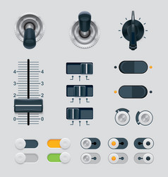 UI dials set vector image vector image