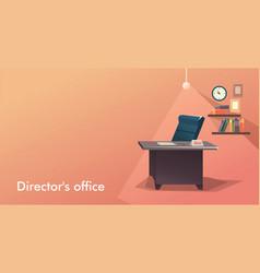 Vacancy empty workplace vector