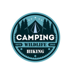 wildlife camping vintage isolated badge vector image vector image