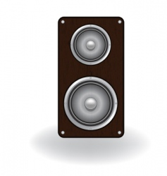 wooden loud speaker vector image vector image