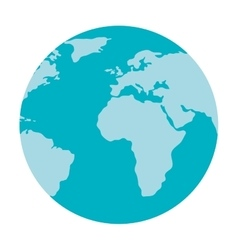 World earh map isolated icon vector image