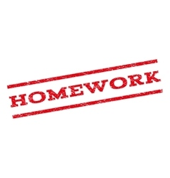 Homework watermark stamp vector