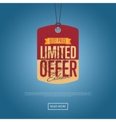 Limited offer isolated sale sticker vector