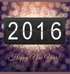 new years black counter vector image