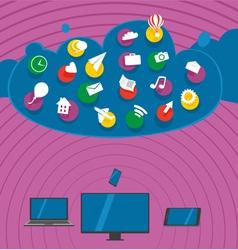 Big Clouds vector image