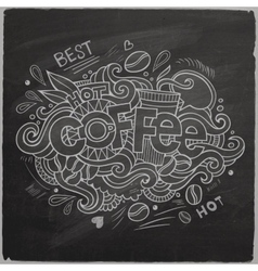 Coffee hand lettering on chalkboard vector