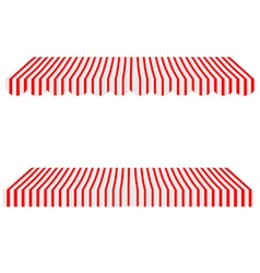 Awning set vector