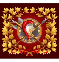 Antique arms and a laurel wreath vector