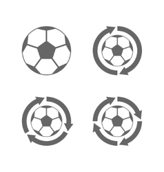 Soccer ball icon with arrows vector