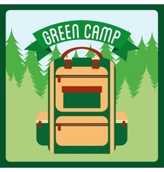 Green camp vector