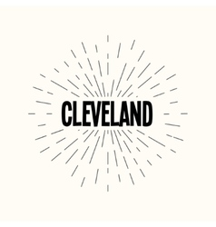 Hand drawn sunburst - cleveland vector