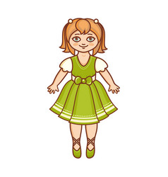 a little ballerina in a beautiful dress vector image