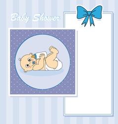 Baby boy arrival vector