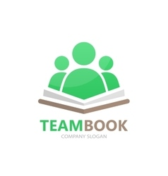 book and people logo concept vector image