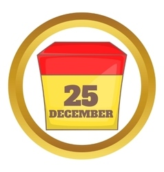 Calendar with christmas date icon vector