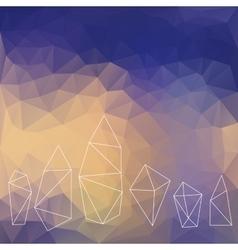 Crystals background vector