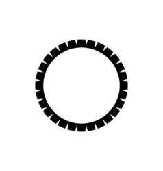 Dham wheel icon religion symbol vector