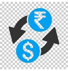 Dollar rupee exchange icon vector