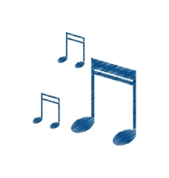 drawing note music audio sound vector image