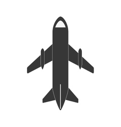Gray airplane travel business vacation vector