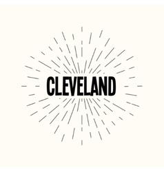Hand drawn sunburst - cleveland vector