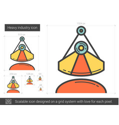 Heavy industry line icon vector