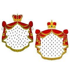 Heraldic royal mantles vector