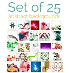 Large mega set of abstract backgrounds sale vector
