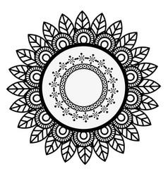 Mandala spiritual symbol vector