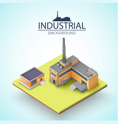 manufacturing buildings background vector image