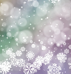 New year blur background with snowflakes vector image