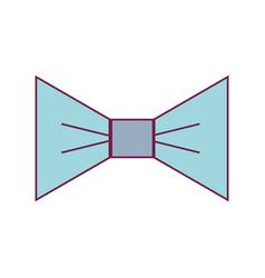 nice bowtie style decoration design vector image