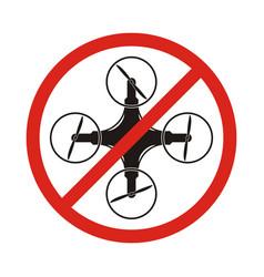 no drones sign drones free area drones flights vector image vector image