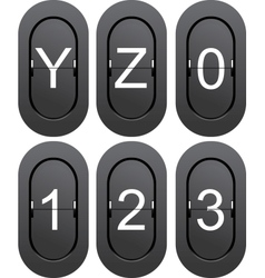 Numeric series 0 to 1 from mechanical scoreboard vector
