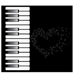 Piano heart vector