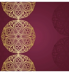 semicircle ornament vector image