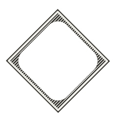 Silhouette diamond decorative frame striped vector