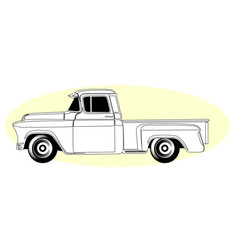 Silhouette of retro pick-up truck - vintage vector