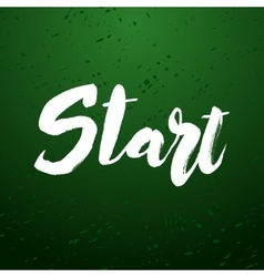 Start lettering design vector image