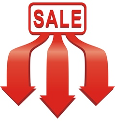 Arrow sale sticker vector image