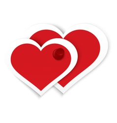 Heart stickers push pinned vector