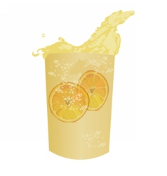 Summer cocktail fresh drink isolated vector image