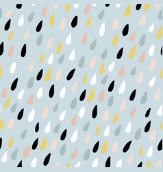 cute seamless pattern with colorful water drops vector image