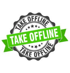 Take offline stamp sign seal vector