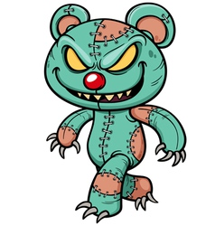 Evil teddy bear vector image