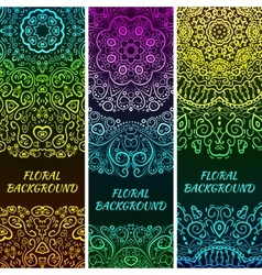 Bright asian decorative headers vector