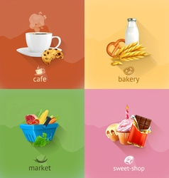 Food concepts set vector image