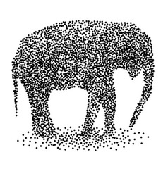 Dotted elephant calf vector