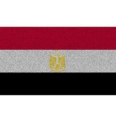 Flags egypt on denim texture vector