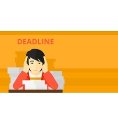 Man having problem with deadline vector